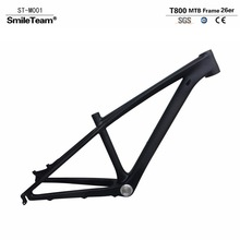 "2017 New T800 Carbon MTB Frame 26er 14""/16"" Full Carbon Mountain Bike Frame 3K Matte 135*9mm Bicycle Frame EMS Free Shipping"