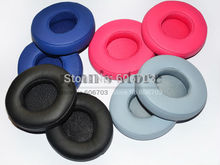 Replacement Ear Pads Cushion pillow for Beat solo2 solo2.0 solo 2 2.0 headphones black gray blue pink(China)