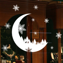 PVC Snowflake Christmas  Decoration Shop Store Wall  Window Stickers Removable Home  Art Decal Creative Mural  Decor  F1011