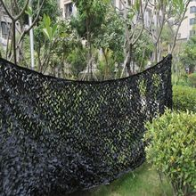 4X4M Black Hunting Camping Military Camouflage Net Hide Camouflage Netting Outdoor Camping Shooting Oxford Fabric Camo Net(China)