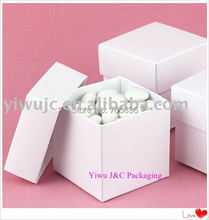 FREE SHIPPING--100pcs 2PC White Wedding Favor Boxes,Event Sweet Candy Box, Birthday Gift Box,Bridal Shower Box(JCO-115R)