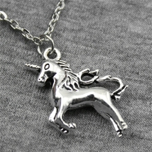 Buy Wholesale 30pcs Antique Silver Color 24*21mm Unicorn Pendant Metal Chain Necklace, Fashion Necklace Jewelry Women for $18.99 in AliExpress store