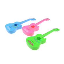 1PCS Baby 6 String Plastic Guitar Toy learning Educational Kids Music Toy Random Color