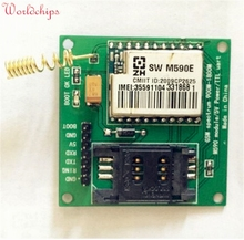 M590E GSM GPRS Module 900m-1800m SMS Message Diy kits M590 Standard AT Instruction Set CPU MCU Test 5V 50mm*50mm Free Shipping