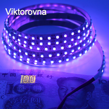 UV Ultraviolet 395-405nm Led Strip black Light DC12V 3528 SMD 120leds/m Purple ip20/ip65 Waterproof LED Tap Ribbon String lamp(China)