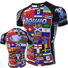 ROLLHO mma Geometrische Print Fighting Fight Fitness Slijtage Sweatshirt Boksen jerseys boksen shorts thai boxing mma(China)