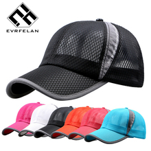 Unisex Summer Breathable Fashion Baseball Cap Hat For Women Men Mesh Cap Snapback Hat Bone Golf Cap Men Sport Brand Hat Hot Sale