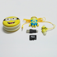 New Top Quality Cartoon MP3 Player Sport Mini MP3 Music Player Supply 4GB Micro SD Card & Stereo Earphone & Box & USB Cable