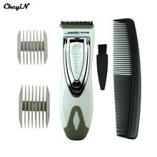 AA Battery Powered Adjustable Cordless Electric Hair Clipper Haircuts Machine Trimmer for Family Travel Styling Tools RCS31W-P00