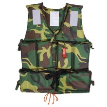 Universal Camouflage Adult Boating Swimming Life Jacket Vest Camouflage Boating Water Buoyancy Aid Polyester Floating Foam