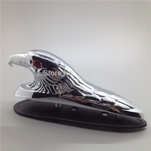 Yecnecty Chrome Motorcycle Mud Guard Ornament Front Fender Eagle Head Statue Motorbike Parts For Suzuki Yamaha Harley Davidson(China)