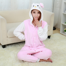 New Hello Kitty white Pajamas For Women Nightgown Pajama Adult Pajama One Piece Polyester Pajamas Pyjamas