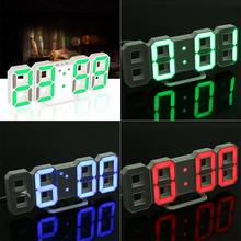 Wall Clock Digital LED Table Clock 24 or 12-Hour Display Alarm Snooze 8888 Display Desk Alarm Clock Blue Green Red White(China)