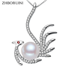 ZHBORUINI 2017 Fashion Necklace Pearl Jewelry Natural Freshwater Pearl Phoenix Pendant 925 Sterling Silver Jewelry For Women