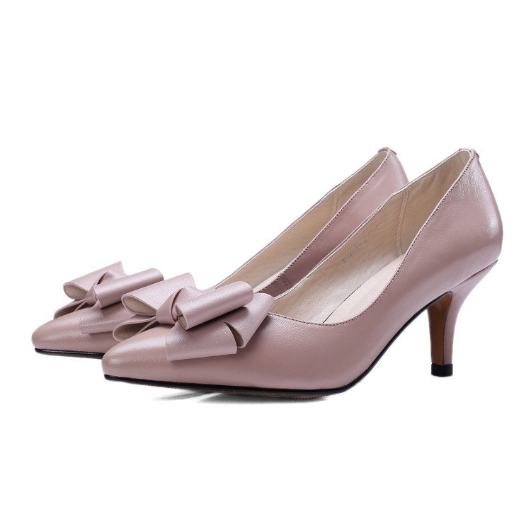 Salcxoi 2018 spring and autumn Shoes Woman summer Ladies Shoes Pointed Toe Women Shoes Butterfly-knot Pump free shipping &6421-5