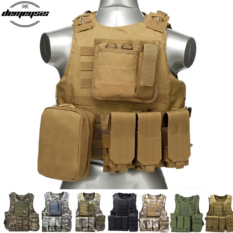 Tactical Hunting Vest Military Molle Men Male Plate Carrier Module For Airsoft Shooting Camouflage Vest<br>