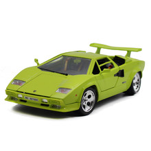 Hot sale Classical Bburago 1:18 Countach 5000 LP5000S Green supercar model diecast Alloy Model sports car toy vehicles(China)