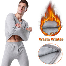 2016 Winter Men's Thermal Underwear Sets High Quality Mens Warm Long Johns Thick Plus Velet Underwear Thermal Clothing For Men