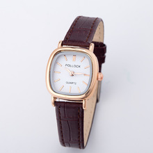 Luxury Vintage Small Dial Mini Watch Genuine Leather Black Brown Quartz Dress Wrist Watch Wristwatches for Women Students