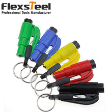 1PC Car Styling Pocket Auto Emergency Escape Rescue Tool Glass Window Breaking Safety Hammer with Keychain Seat Belt Cutter(China)