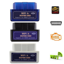 Mini WiFi ELM327 OBD2 OBD Car Diagnostic Code Scanner for IOS Android Phones Diagnostic Tools(China)