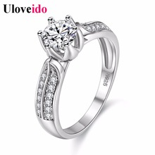 5% Off Wedding Engagement Rings Unusual Gifts for Women Luxury Wholesale Silver Crystal Ring Jewelry 2017 Womens Jewellery Y027