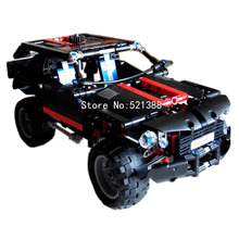 DIY Educational Toys car suv cross country vehicle  Blocks self-locking bricks Compatible with Lego Technic 8081 Extreme Cruiser