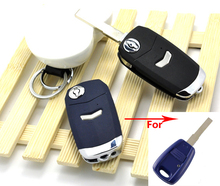 20PCS/lot For 1 Buttons Modified Flip Remote Key Shell Case For Fiat With SIP22 Uncut Blade Keyless Fob Key Cover(China)