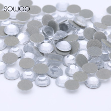 Eco-friendly lead free Lower 90PPM Hot Fix Rhinestone Round Shape Crystal Clear Color Iron on Rhinestone baby studs