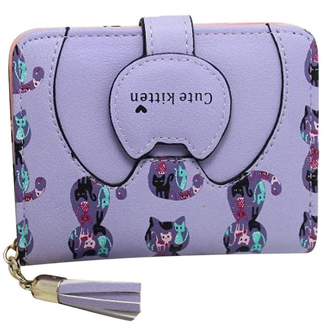 ASDS Ctue Women Cat Card Holder Purse Short Wallet Bags Handbags<br><br>Aliexpress