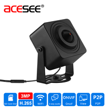 Acesee Sony IMX290 1080P Micro Wifi Home Security Camera POE WIFI IP 2.0MP H.265 3.7mm Lens Wireless Cameras HISILICON 3516CV300(China)