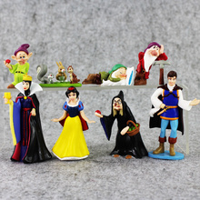 New Style PVC Figure Toy Doll Princess Snow White Snow White And The Seven Dwarfs Queen Prince Figure Toy Birthday Gift For Kids