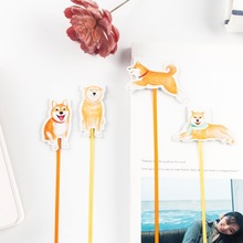 1PCs Cute Dog Shiba Magnetic Bookmark Long Tail Ribbon Stationery Student School Office Gift M0123