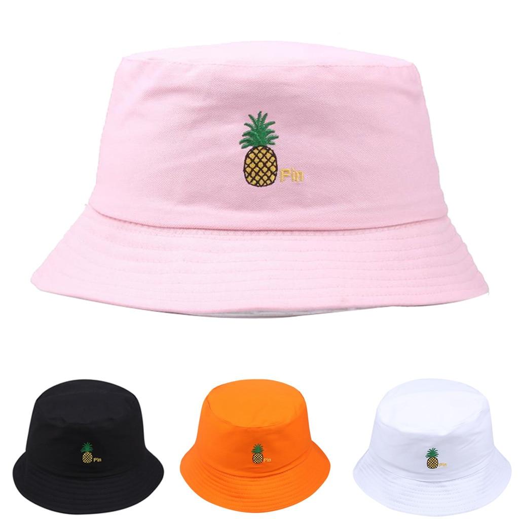 Home Prefer Unisex Mens Womens Daily Summer Hat Plain Sun Protection Bucket Hat