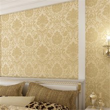 beibehang papel de parede European classic pattern non-woven wallpaper damask bedroom living room TV background wall paper(China)