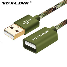 VOXLINK USB Male to Female Extension Cable Nylon 1M 3FT /2M3M 10FT/5M USB Charging Extension Cord Extender For iphone PC Laptop