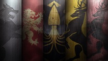 p1097 Picture of Game of Thrones flags Ice Fire War Kings HUGE POSTER 40x60cm - Canvas Print Home Decor poster