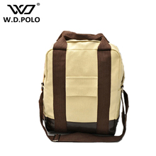 WDPOLO Fashion Canvas men back pack 3 function can be as handbag high capacity price on promotion male messenger bag M2044
