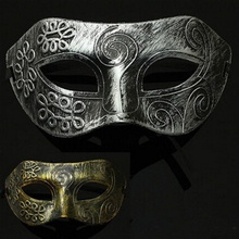 hot sale Lovely Men Burnished Antique Silver/Gold Venetian Mardi Gras Masquerade Party Ball Mask(China)