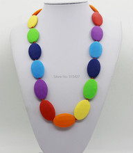 New popular DIY Handmade silicone Weave Baby teethers Mommy Necklace ,Ladies Silicone necklace(China)
