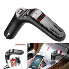 High Quality  car-styling   Bluetooth Car Kit Handsfree FM Transmitter Radio MP3 Player USB Charger & AUX