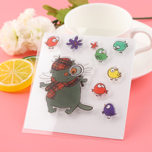 Cat Bird Scrapbooking DIY Album Cards Transparent Silicone Rubber Clear Sheet Stamps DIY Crafts