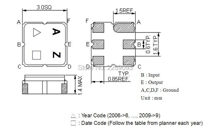 Free Shipping! New Original 10pcs/lot TA0836A TA0836 TA 0836A AZ SAW Filter 1237 MHz SMD 3.0X3.0 mm<br>