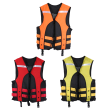 Adult Water Sports Gilet Swimmer Jackets Life Saving Vest for Outdoor Drifting Surfing Sandbeach Upstream Oxford Fabric ISP