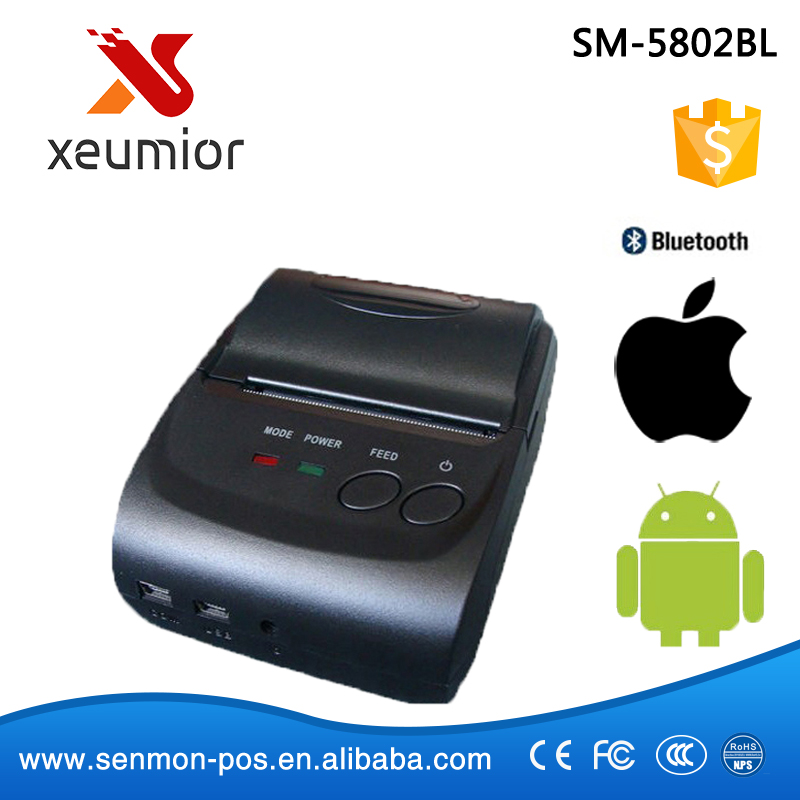 58mm Portable Mobile Printer Wireless Bluetooth Printer Mini Thermal Printer Support Android + IOS<br><br>Aliexpress