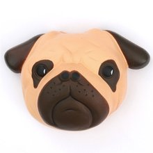 Original Kawaii Squishy Dog Face Bread Soft Slow Rising Pendant Phone Straps Stretchy Squeeze Cream Scented Cake Kid Toy Gift