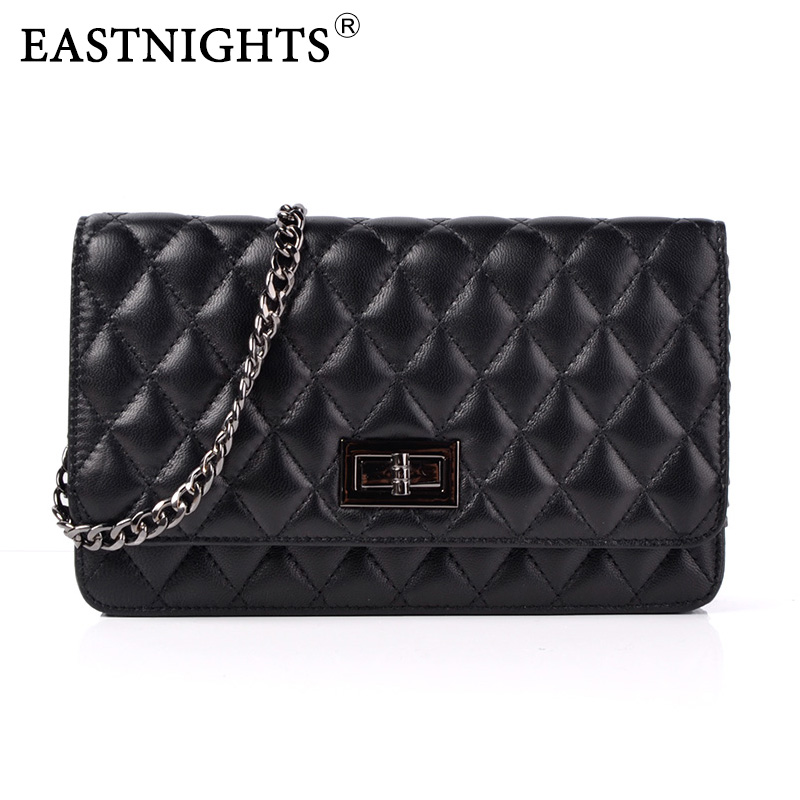 EASTNIGHTS 2017 New Sheepskin Bags Ladies Real Leather Bags Women Handbags High Quality Tote Bag for Women Black Fashion TW2819<br>