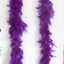 Dark Purple Clothing Accessories Turkey Feather Strip Fluffy Boa Happy Birthday Party Wedding Decorations Supplies 2 yards\lot