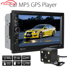 7 Inch 2 Din Car Player GPS Navigation Bluetooth Car Multimedia Player+Camera+ EU/AU/US Map