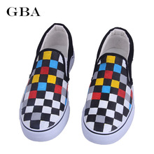 Gba 2017 Spring Autumn Women Low Flat Rihanna Canvas Shoes Cartoon Cat Hand-Painted Board Shoes Female Lazy Casual Loafers Gg
